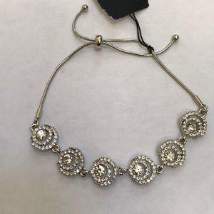 NWT! Givenchy rhodium halo slider bracelet .